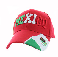 VM001 Mexico Velcro Cap (Solid Red)