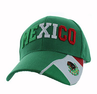 VM001 Mexico Velcro Cap (Solid Kelly Green)