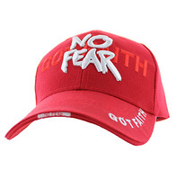 VM024 God With No Fear Velcro Cap (Solid Red)