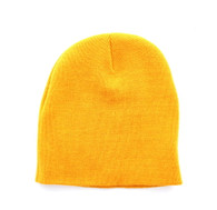 "WB090 Plain 8"" Short Beanie (Solid Gold)"