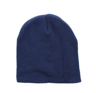 "WB090 Plain 8"" Short Beanie (Solid Navy)"
