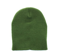 "WB090 Plain 8"" Short Beanie (Solid Olive)"