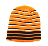 "WB090 Plain 8"" Short Beanie (Orange & Stripe)"