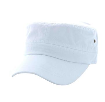 BP081 Washed Cotton Castro Caps (Solid White) - Ace Cap a8a23b7df50b