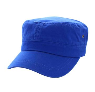 BP081 Washed Cotton Castro Caps (Solid Royal Blue) - Ace Cap 7b50008c0f07