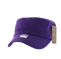 BP081 Washed Cotton Castro Caps (Solid Purple)
