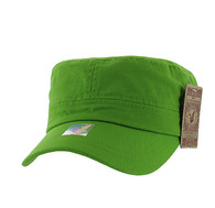 BP081 Washed Cotton Castro Caps (Solid Lime)