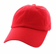 BP080 Washed Cotton Polo Style Caps (Solid Red)