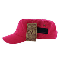 BP083 Washed Cotton Castro Caps (Solid Hot Pink)