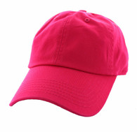 BP080 Washed Cotton Polo Style Caps (Solid Hot Pink)