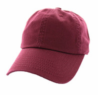 BP080 Washed Cotton Polo Style Caps (Solid Burgundy)