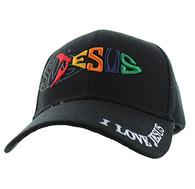 VM163 Jesus Velcro Cap (Solid Black)