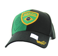 VM190 Brazil Velcro Cap (Black & Kelly Green)