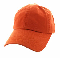 BP080 Washed Cotton Polo Style Caps (Solid Texas Orange)