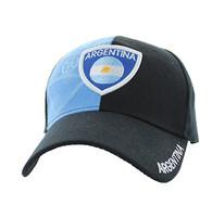 VM190 Argentina Velcro Cap (Black & Sky Blue)