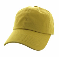 BP080 Washed Cotton Polo Style Caps (Solid Gold)