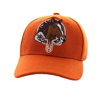 VM196 Kids Horse & Belt Velcro Cap (Solid Texas Orange)