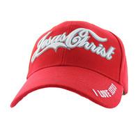 VM200 Jesus Christ Velcro Cap (Solid Red)