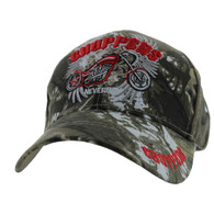 VM323 Choppers Never Die Velcro Cap (Solid Hunting Camo)