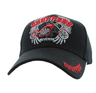 VM323 Choppers Never Die Velcro Cap (Solid Black)