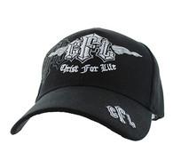 VM427 Christ For Life Velcro Cap (Solid Black)