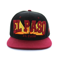 SM139 El Paso City Snapback (Black & Light Grey)