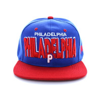 SM142 Philadelphia City Snapback (Royal Blue & Red)