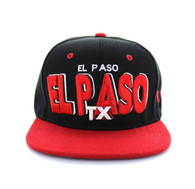 SM142 El Paso City Snapback (Black & Red)