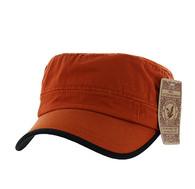 BP084 Washed Cotton Castro Caps (Solid Texas Orange)
