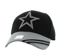 VM235 Big Star Velcro Cap (Black & Light Grey)