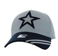VM235 Big Star Velcro Cap (White & Navy)