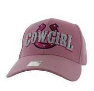 VM002 Cow Girl Velcro Cap (Solid Light Pink)