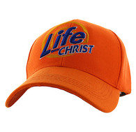 VM006 Life With Christ Velcro Cap (Solid Orange)