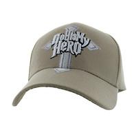 VM154 God Is My Hero Velcro Cap (Solid Khaki)