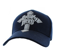 VM154 God Is My Hero Velcro Cap (Solid Navy)