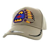 VM264 Native Pride Bear Claw Velcro Cap (Solid Khaki)