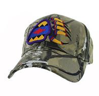 VM264 Native Pride Bear Claw Velcro Cap (Solid Hunting Camo)