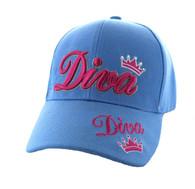 VM352 Diva Velcro Cap (Solid Sky Blue)