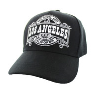 VM410 Los Angeles Velcro Cap (Solid Black)