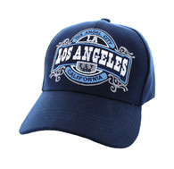 VM410 Los Angeles Velcro Cap (Solid Navy)