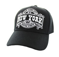 VM410 New York Velcro Cap (Solid Black )