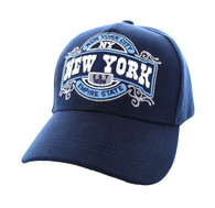 VM410 New York Velcro Cap (Solid Navy )