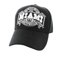 VM410 Miami Velcro Cap (Solid Black )