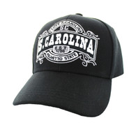 VM410 S. Carolina Velcro Cap (Solid Black )