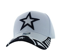 VM421 Big Star Velcro Cap (White & Navy)