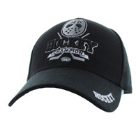 VM451 Hockey Velcro Cap (Solid Black)