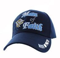 VM027 Man Of Faith Velcro Cap (Solid Navy)