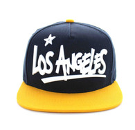 SM355 Los Angeles City Snapback (Navy & Gold)