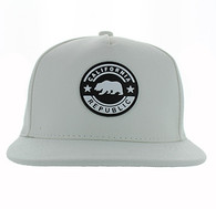 SM581 Cali Bear Snapback (Solid White)
