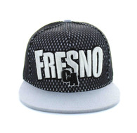 SM033 Fresno Hard Mesh Snapback Cap (Black & Light Grey)